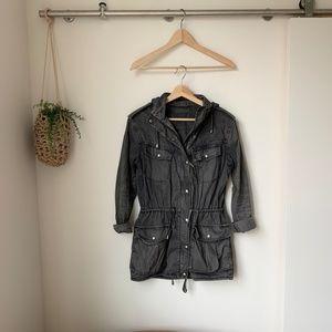Aritzia | Talula Washed Black Jacket XS
